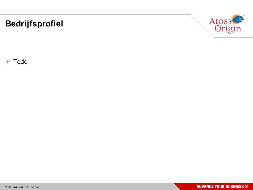 10 - 001AA - AO PP template Aanpak - Methodiek  Waterval model Royce Initiatieffase Definitiefase Evaluatiefase Realisatiefase