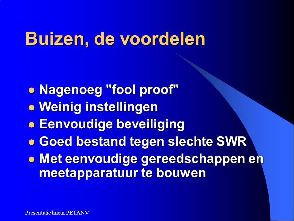 Presentatie linear PE1ANV Buizen, de voordelen Nagenoeg