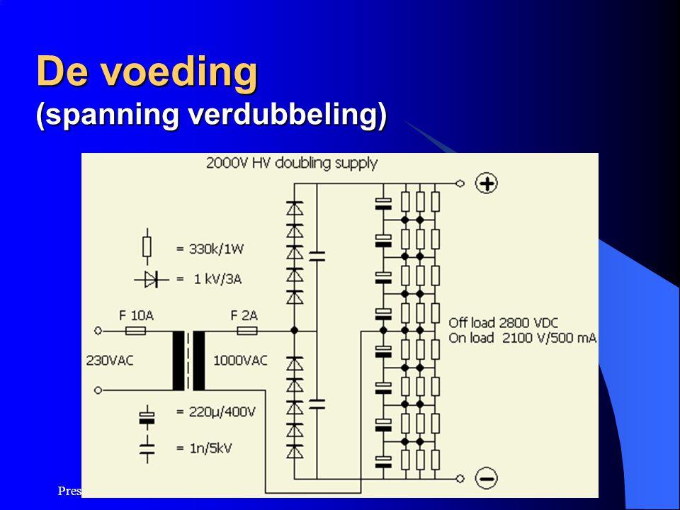Presentatie linear PE1ANV De voeding (spanning verdubbeling)