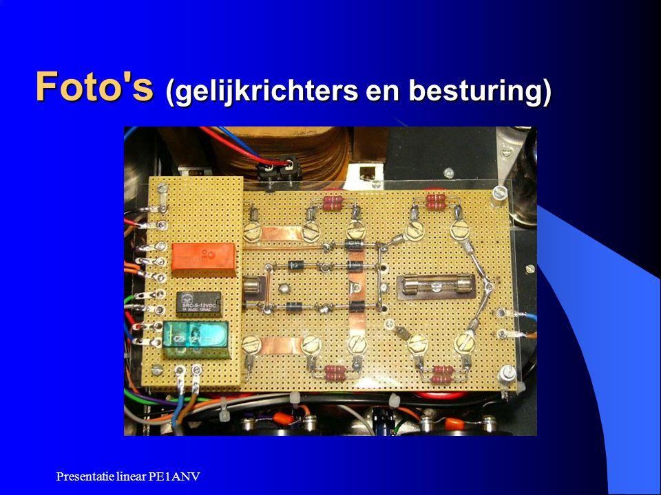 Presentatie linear PE1ANV Foto's (gelijkrichters en besturing)