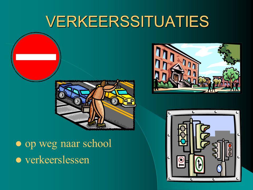 VERKEERSSITUATIES op weg naar school verkeerslessen