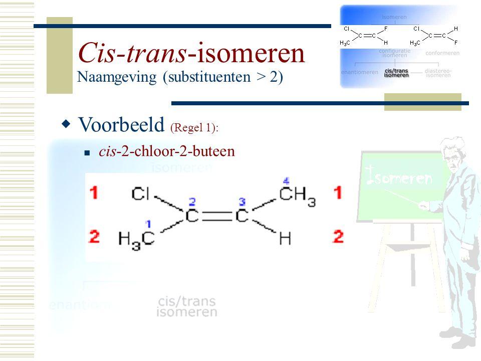 VV oorbeeld (Regel 1): cis-2-chloor-2-buteen