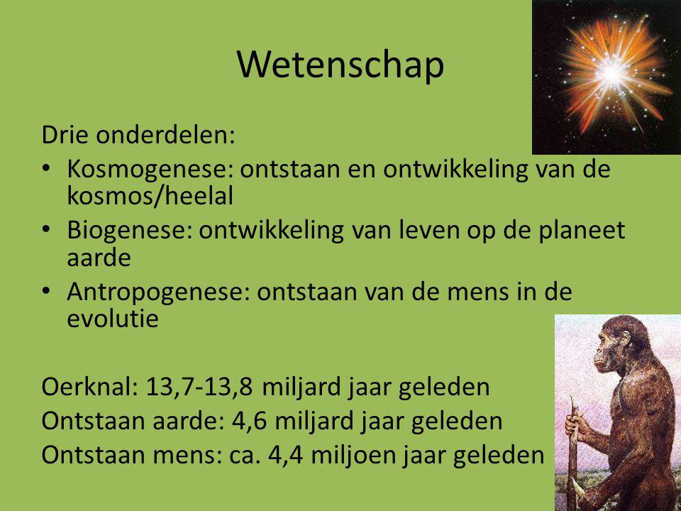 Kosmologie Wereld niet geregeld door goden, maar regelmatige ordening Wereld = kosmos = ordening Natuurverschijnselen niet onvoorspelbaar, maar kenbaar Geen instrumenten, maar studie met blote oog > veronderstellingen Geen experimenten Kosmos = gave, symmetrische wereld > visie globaal ongewijzigd tot in 16e eeuw