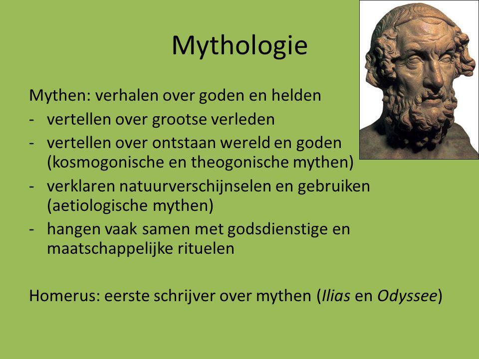 Griekse mythologie: Hesiodus ca.700 v.Chr.