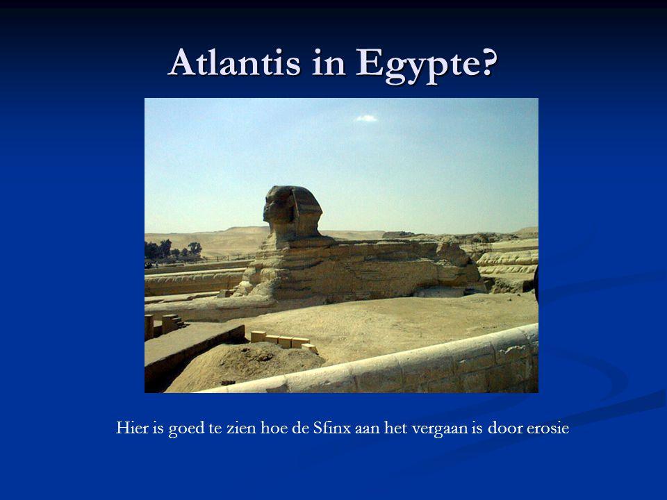 Atlantis in Egypte? Hier is goed te zien hoe de Sfinx aan het vergaan is door erosie