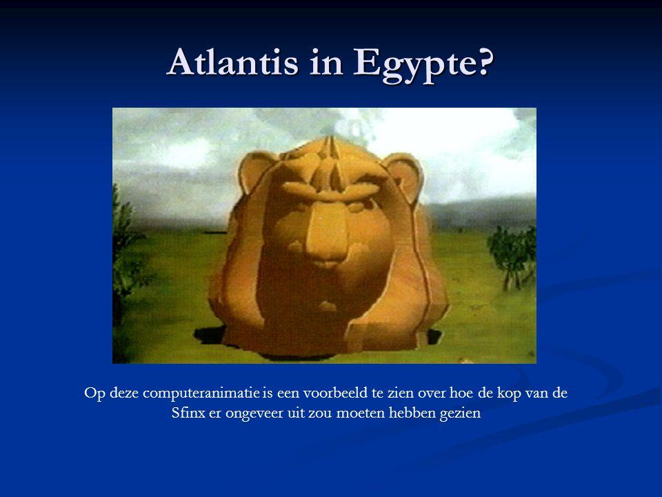 Atlantis in Egypte? Op deze computeranimatie is een voorbeeld te zien over hoe de kop van de Sfinx er ongeveer uit zou moeten hebben gezien