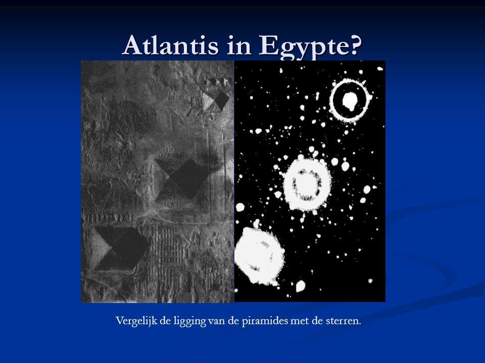 Atlantis in Egypte? Vergelijk de ligging van de piramides met de sterren.