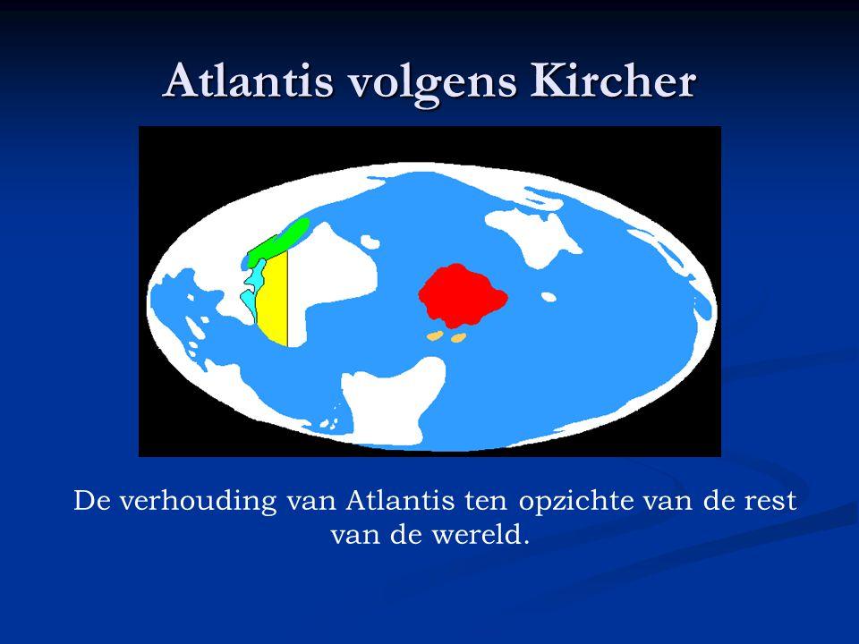 De verhouding van Atlantis ten opzichte van de rest van de wereld.