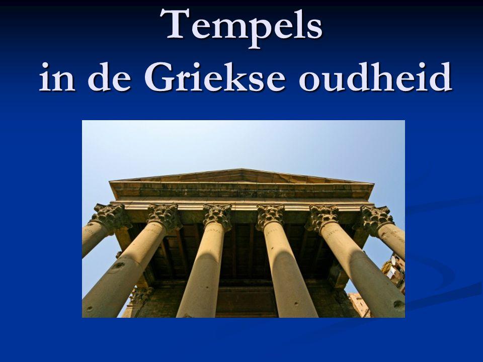 Tempels in de Griekse oudheid