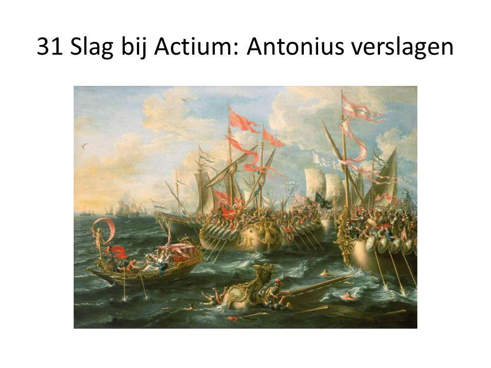 31 Slag bij Actium: Antonius verslagen