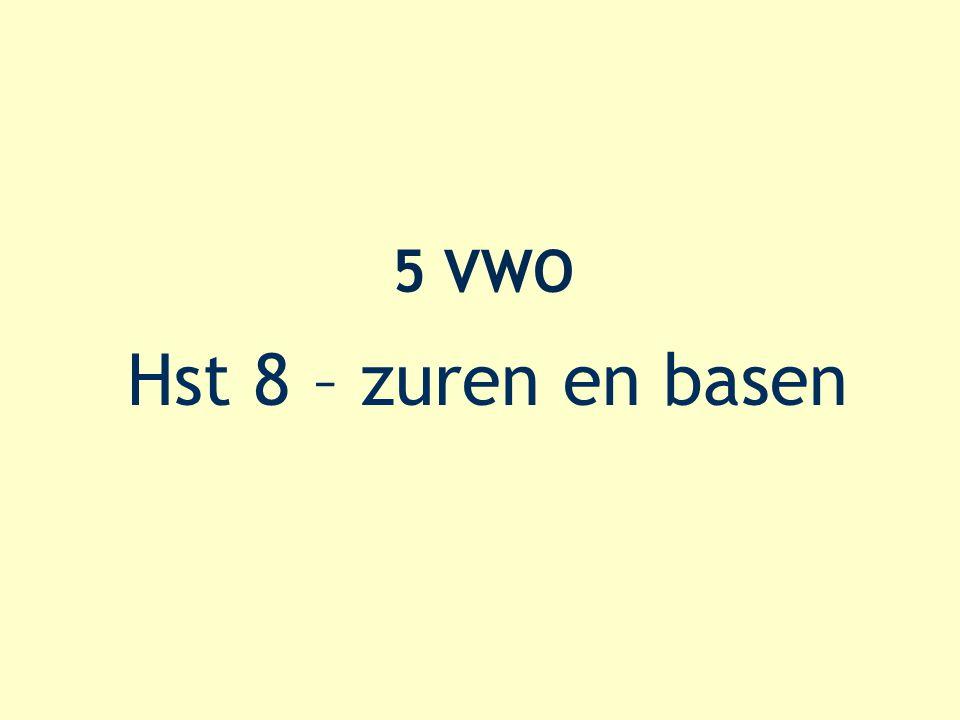 8.6 – enkele berekeningen 50 mL HNO 3 met pH = 1,30 oplossen in 1 L water ? Nieuwe pH = …?