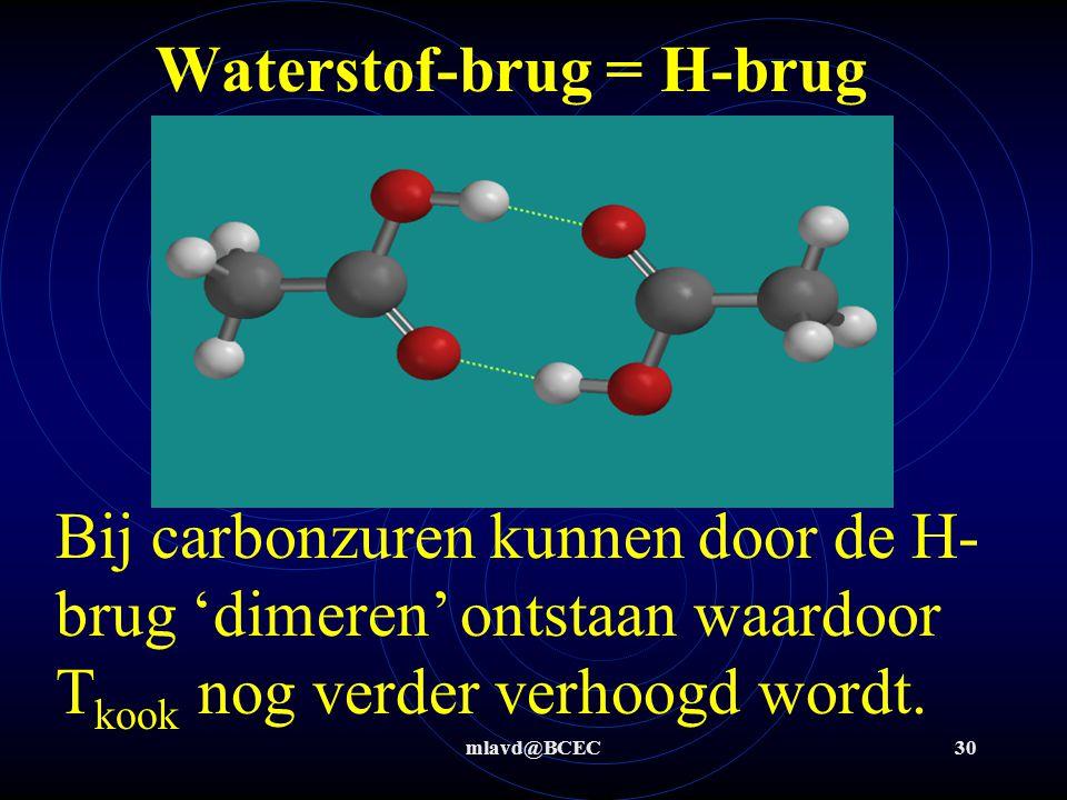 mlavd@BCEC29 Waterstof-brug = H-brug