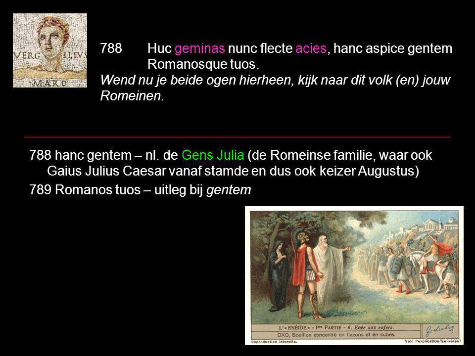788Huc geminas nunc flecte acies, hanc aspice gentem Romanosque tuos.