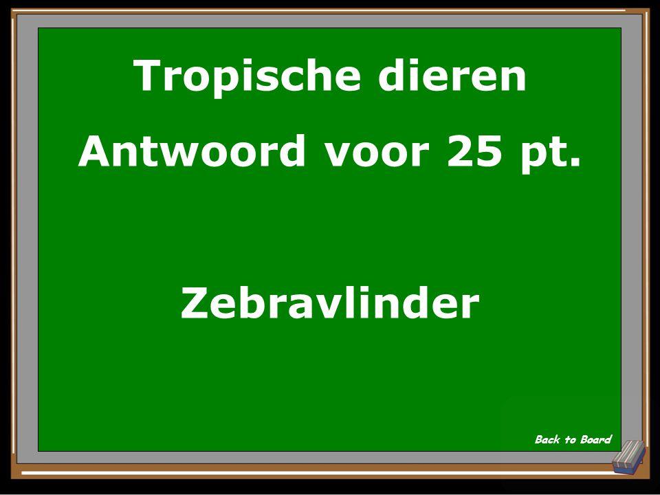Tropische dieren Vraag voor 25 pt.