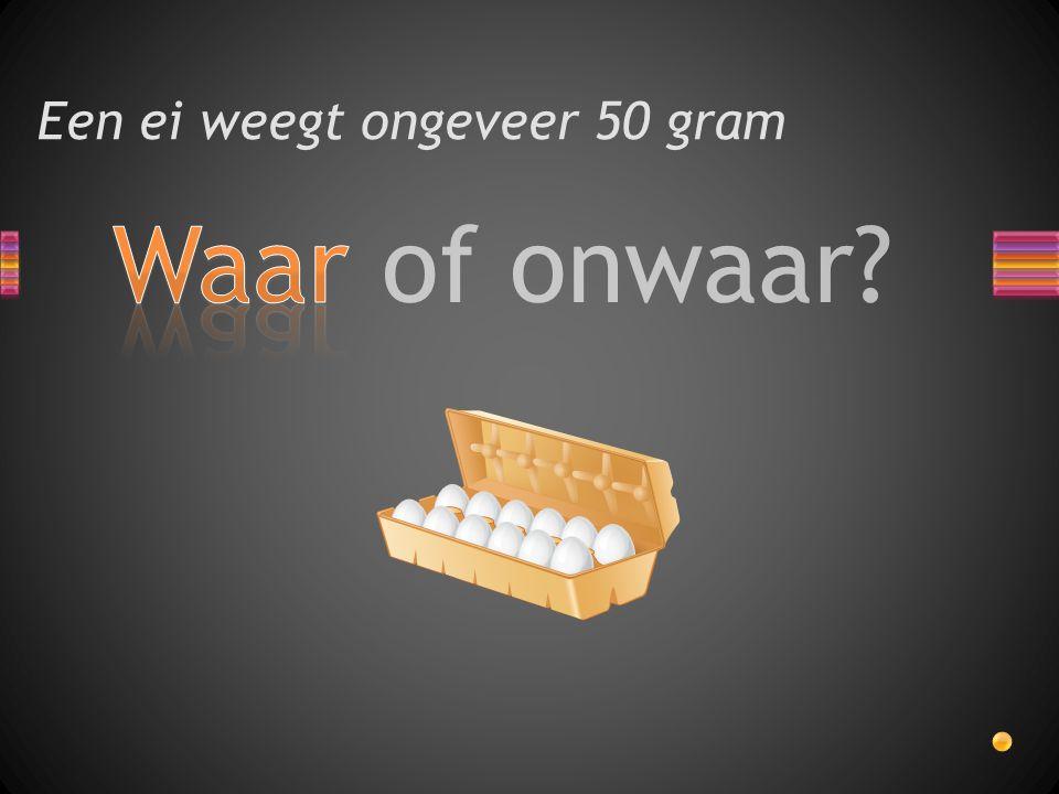 Waar of onwaar? Een ei weegt ongeveer 50 gram
