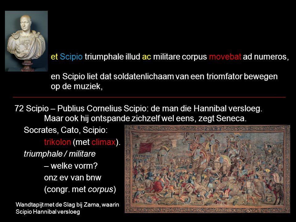 et Scipio triumphale illud ac militare corpus movebat ad numeros, en Scipio liet dat soldatenlichaam van een triomfator bewegen op de muziek, 72 Scipio – Publius Cornelius Scipio: de man die Hannibal versloeg.