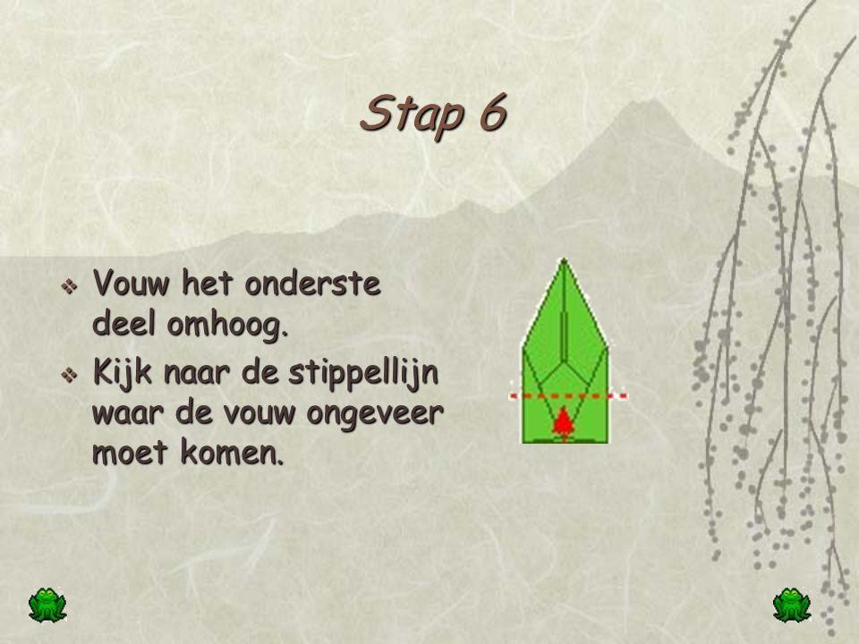 Stap 5  Vouw de twee onderste hoeken tegen het midden van de basis.