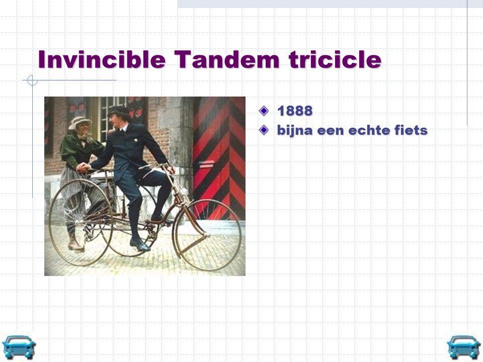 Invincible Tandem tricicle 1888 bijna een echte fiets