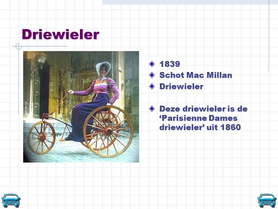 Safety 1890 Eerste Safety gemaakt door Henry Lawson in 1879 John Kemp Starley maakte in 1885 een fiets met buisframe en bijna gelijke wielen: de Rover moderne fiets
