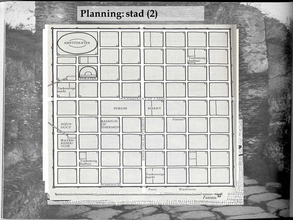 Planning: stad (2) Omtrek Straten/riolering Stadsmuur