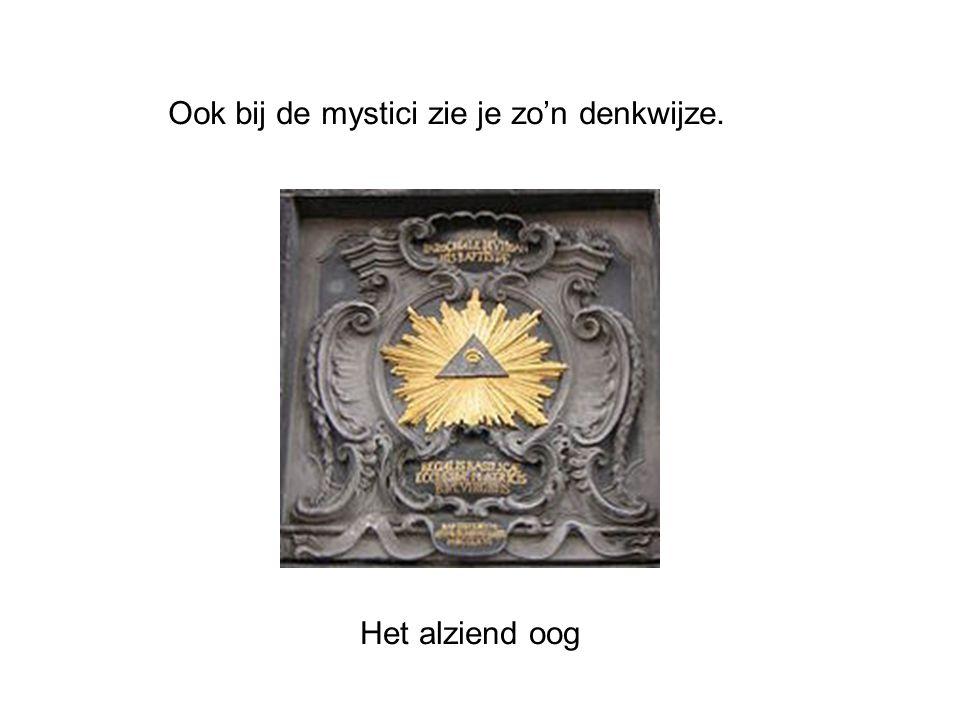 Ook bij de mystici zie je zo'n denkwijze. Het alziend oog