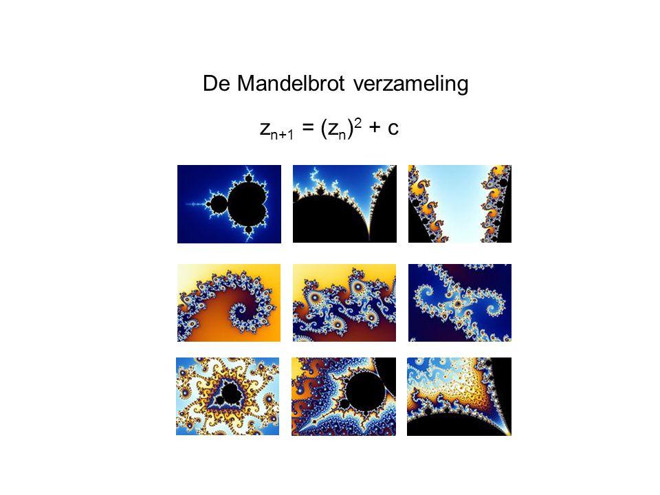De Mandelbrot verzameling z n+1 = (z n ) 2 + c