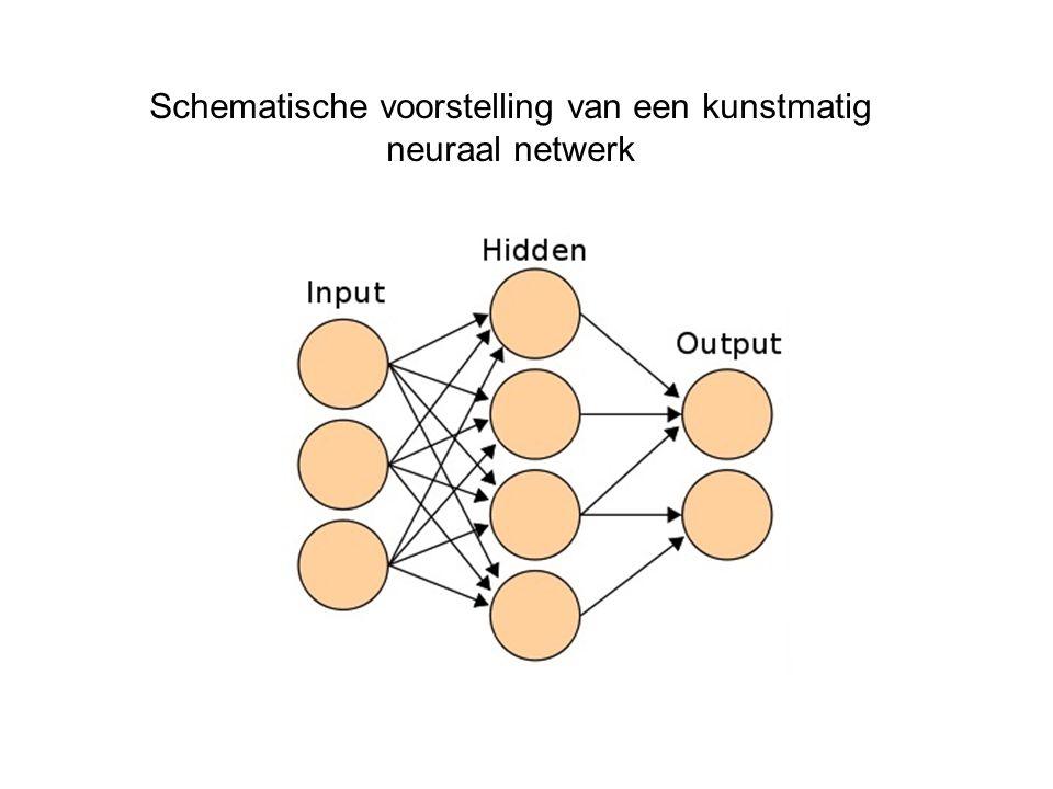 Schematische voorstelling van een kunstmatig neuraal netwerk