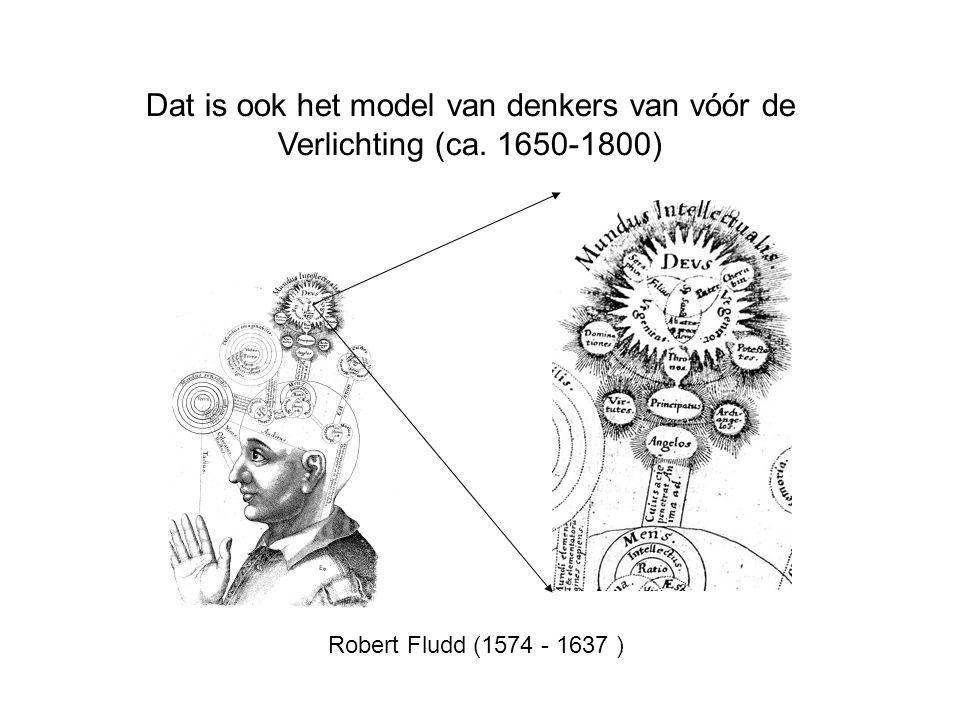 Dat is ook het model van denkers van vóór de Verlichting (ca. 1650-1800) Robert Fludd (1574 - 1637 )