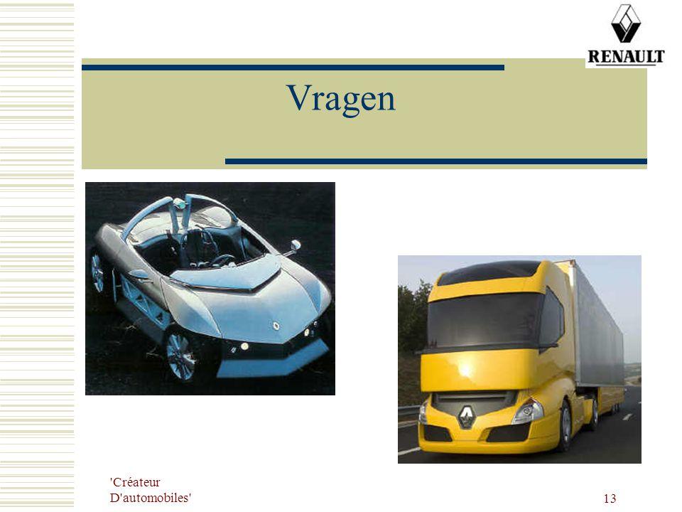 'Créateur D'automobiles' 13 Vragen
