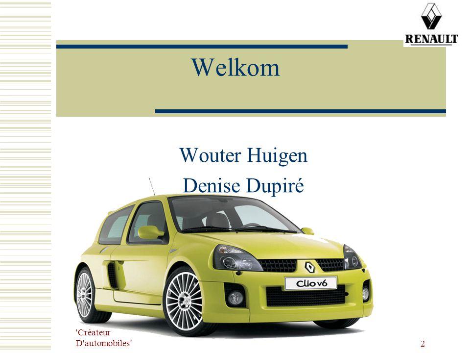 'Créateur D'automobiles' 2 Welkom Wouter Huigen Denise Dupiré