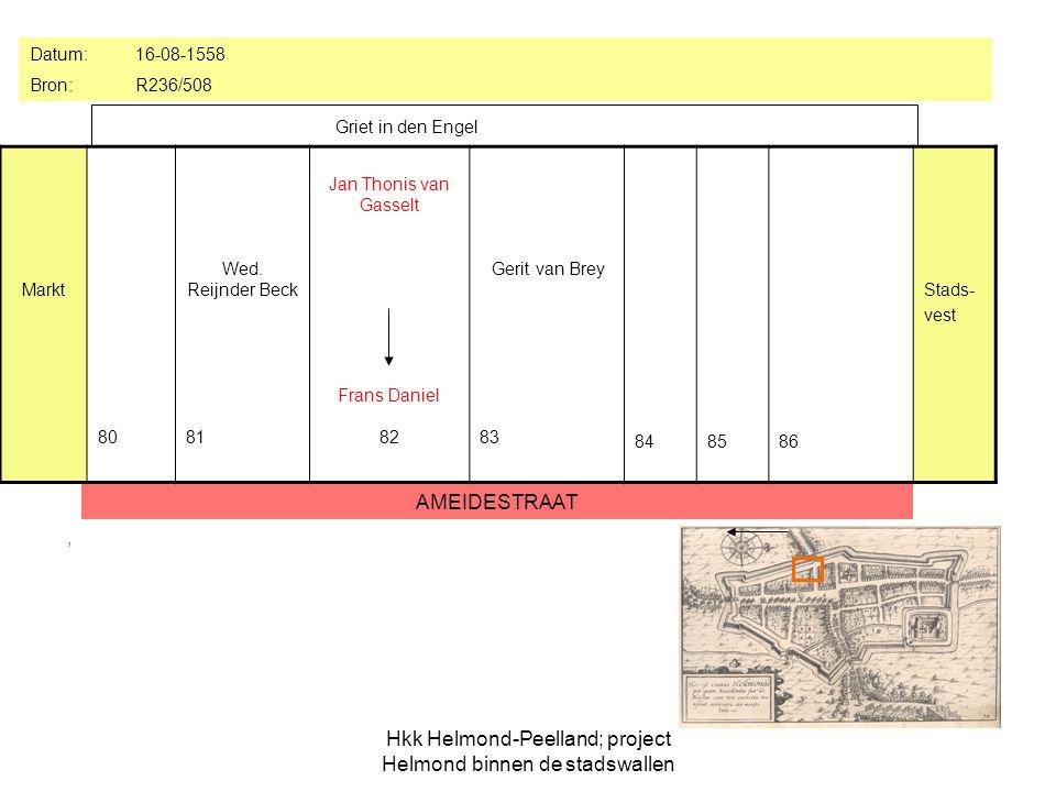 Hkk Helmond-Peelland; project Helmond binnen de stadswallen, Markt 80 Wed.