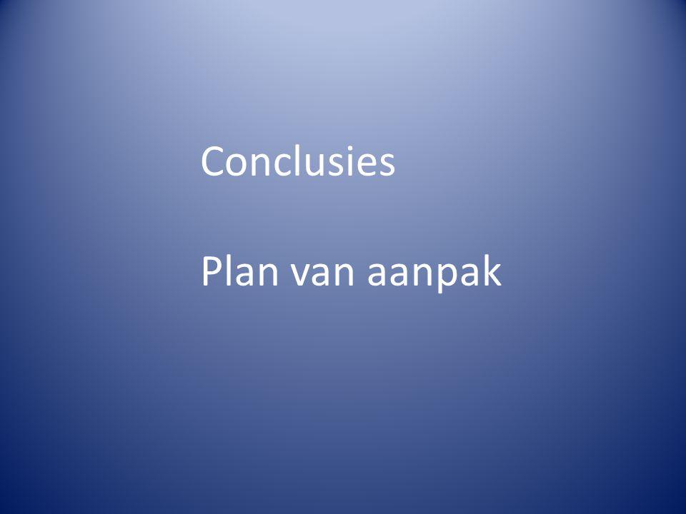 Conclusies Plan van aanpak