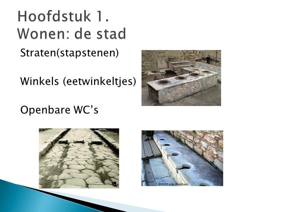 Straten(stapstenen) Winkels (eetwinkeltjes) Openbare WC's