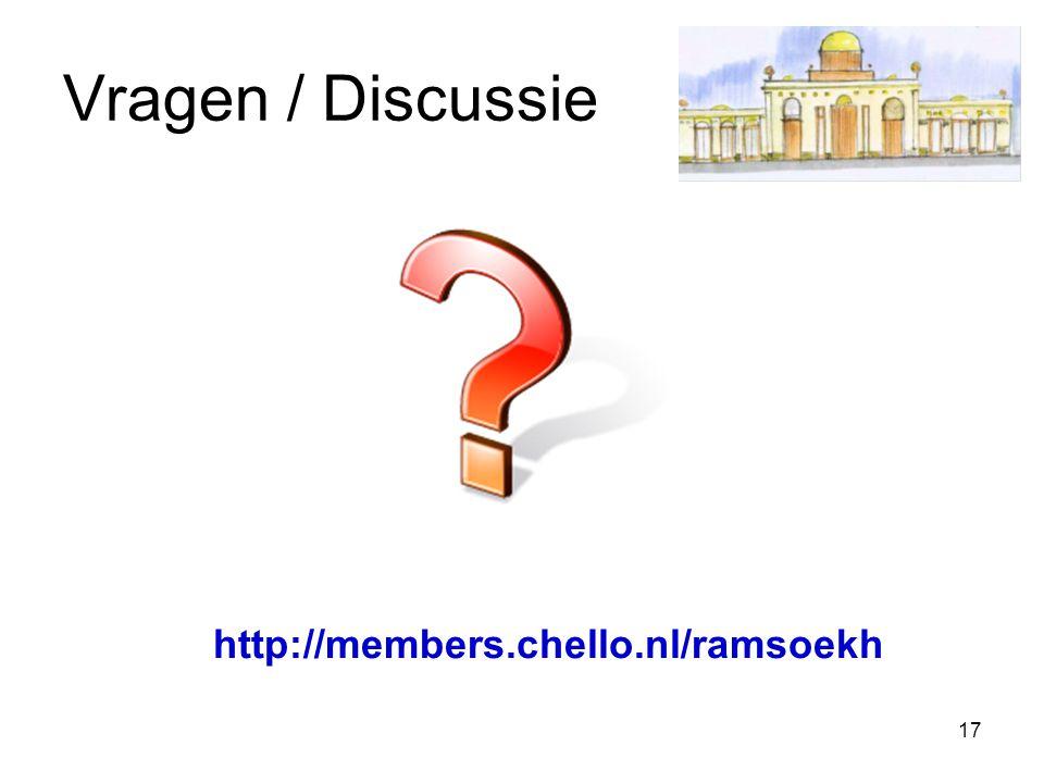 17 Vragen / Discussie http://members.chello.nl/ramsoekh