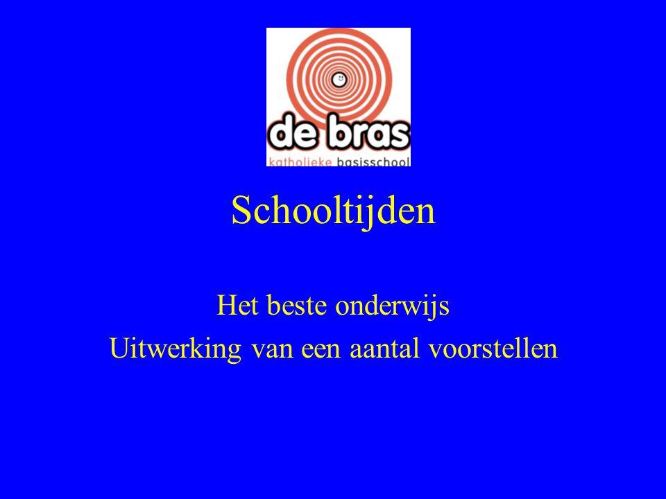 Verzoek van het onderwijsteam aan de MR: 1.meer effectieve tijd voor ontwikkeling van het onderwijs op de Bras.