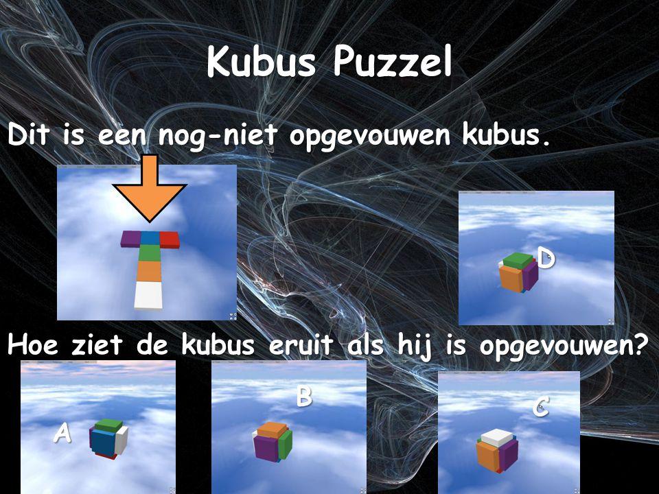 Kubus Puzzel Dit is een nog-niet opgevouwen kubus.