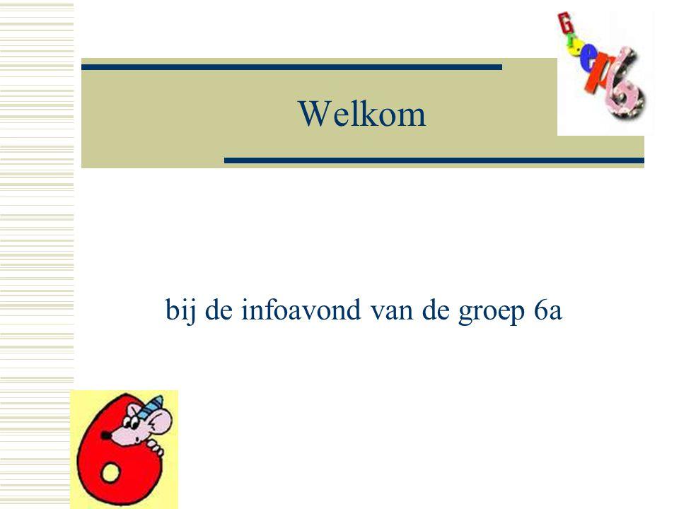 Welkom bij de infoavond van de groep 6a