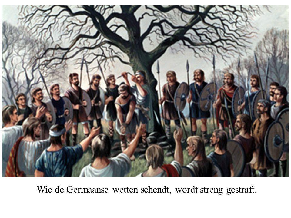 Wie de Germaanse wetten schendt, wordt streng gestraft.