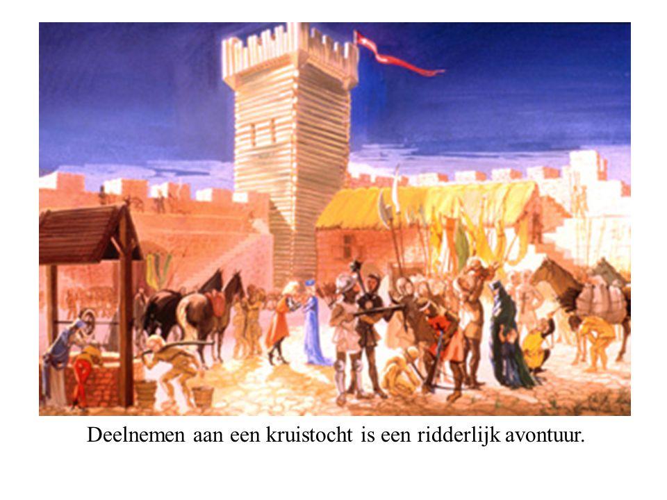 Deelnemen aan een kruistocht is een ridderlijk avontuur.