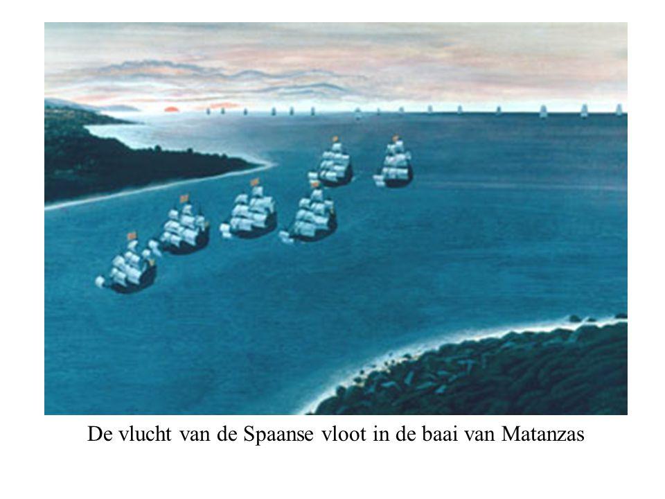 De vlucht van de Spaanse vloot in de baai van Matanzas