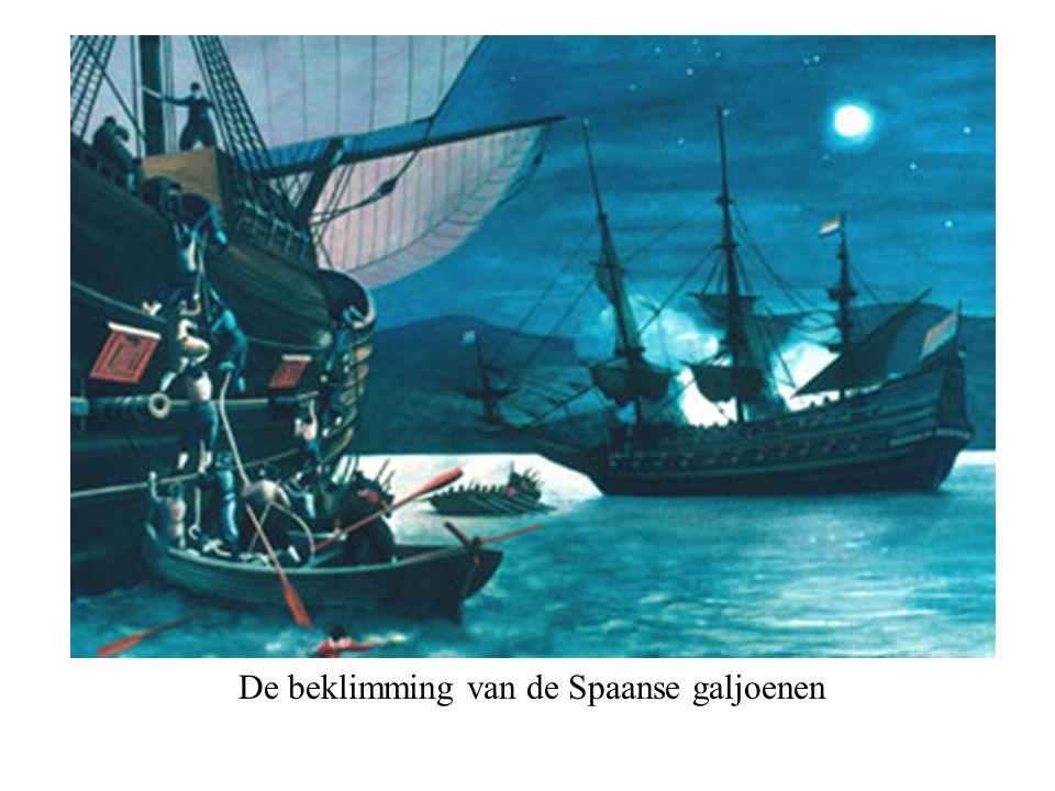 De beklimming van de Spaanse galjoenen