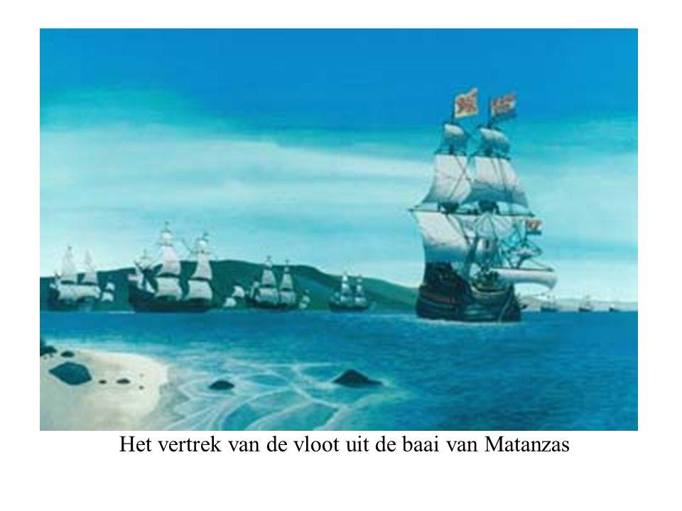 Het vertrek van de vloot uit de baai van Matanzas