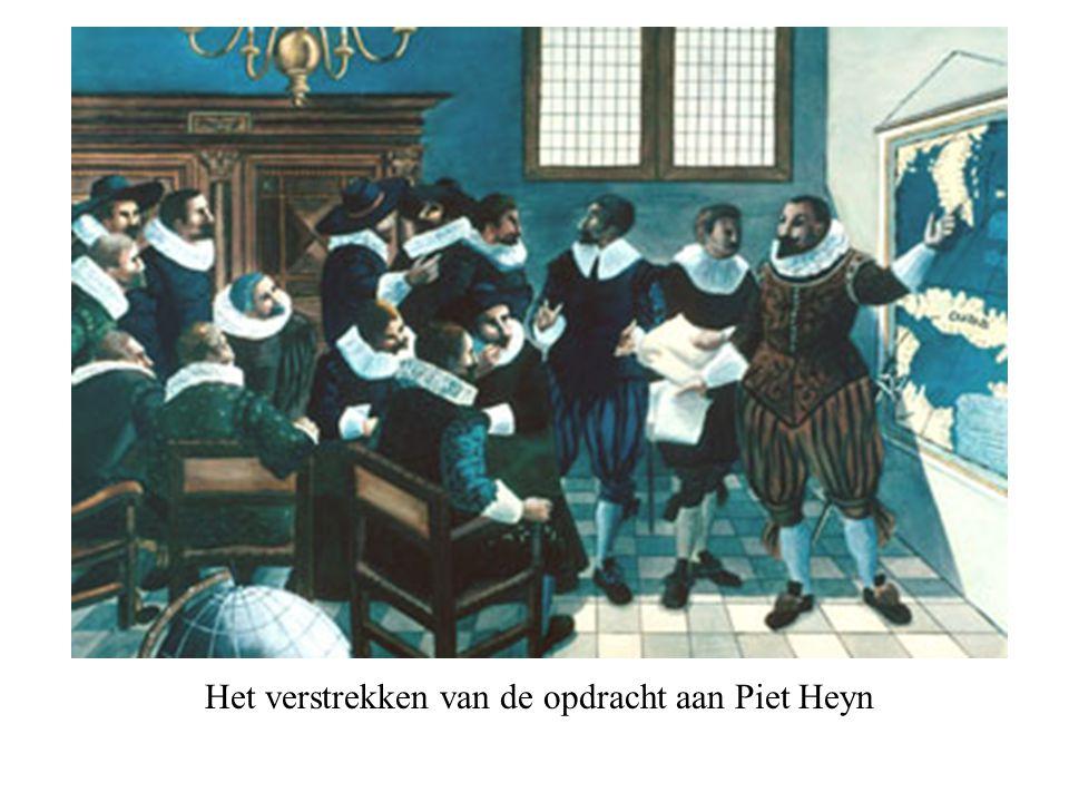 Het verstrekken van de opdracht aan Piet Heyn