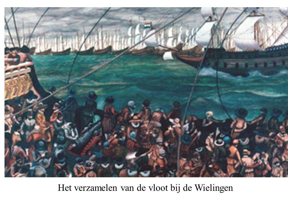 Het verzamelen van de vloot bij de Wielingen