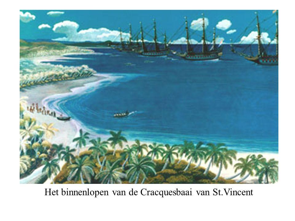Het binnenlopen van de Cracquesbaai van St.Vincent