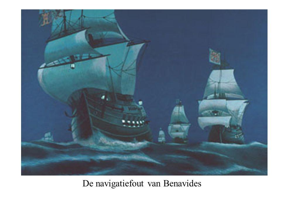 De toegang tot de havens door de Hollanders afgesneden