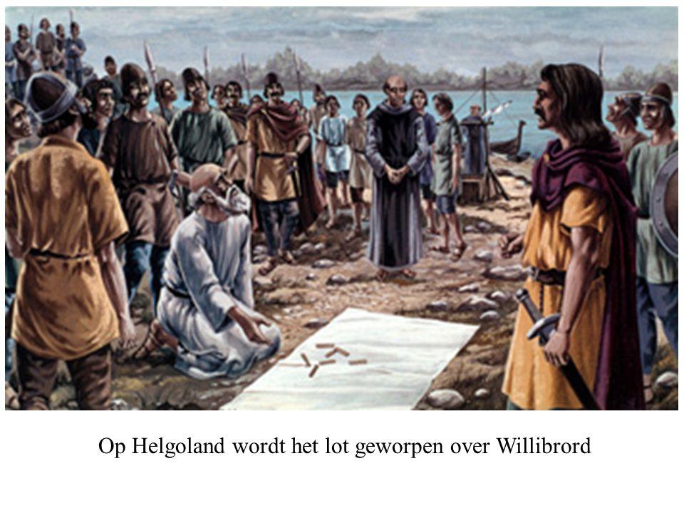 Op Helgoland wordt het lot geworpen over Willibrord