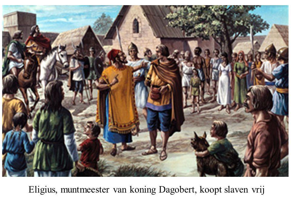 Eligius, muntmeester van koning Dagobert, koopt slaven vrij