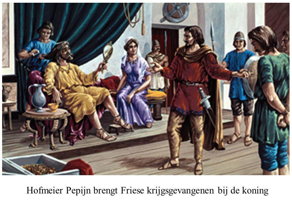 Hofmeier Pepijn brengt Friese krijgsgevangenen bij de koning