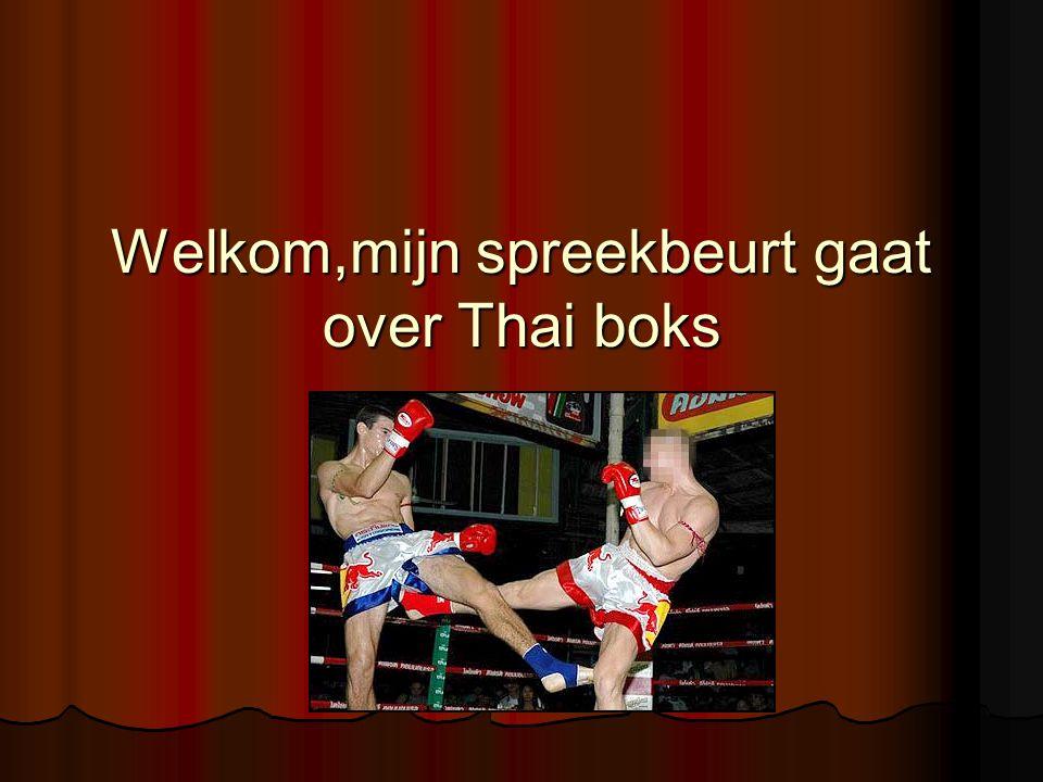 Welkom,mijn spreekbeurt gaat over Thai boks